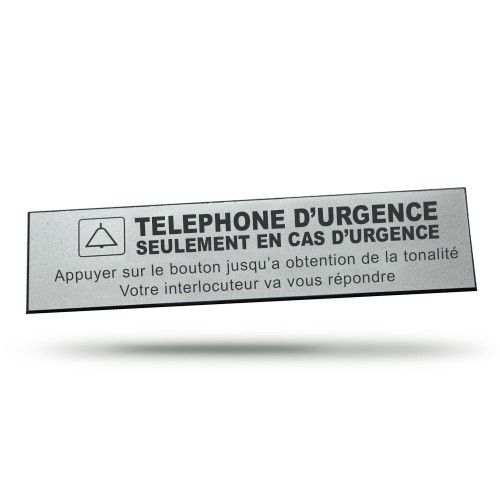 EMERGENCY PHONE LABEL
